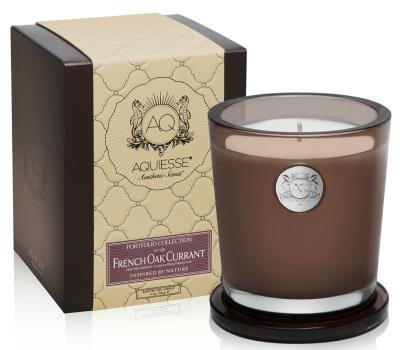Aquiesse Fine Scented Large Candle In Box - French Oak Currant 11oz