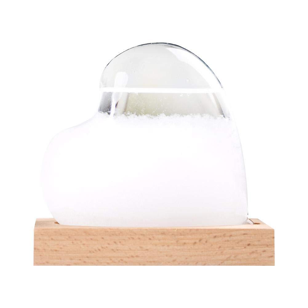 D/écor /À La Maison E Funihut Storm Glass Barometer Verre Temp/ête Stations M/ét/éo Goutte deau Pr/édicteur Pr/évisions Cr/éatives Pr/évisions Cr/éatives Style Nordique Verre M/ét/éo