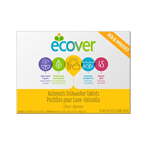Ecover Automatic Dishwasher Soap Tablets, Citrus, 45 Count (Dishwasher Tabs Natural)