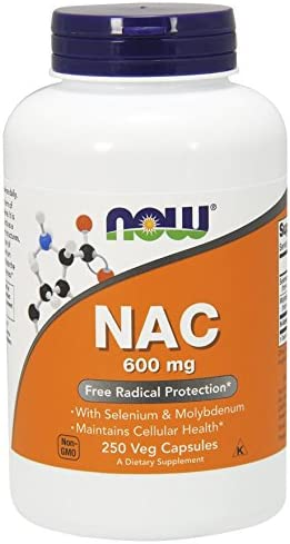 Nac-Acetyl Cysteine 600 mg – 250 Vcaps 3 Pack