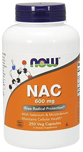 Now Foods - Nac-Acetyl Cysteine 600 milligram 250 Veggie Capsules