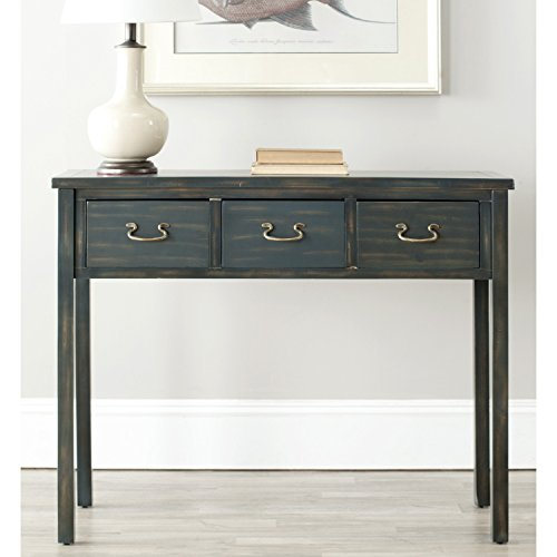 Safavieh American Homes Collection Cindy Steel Teal Console Table For Sale
