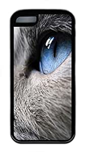 iPhone 5C Case Profile Of A Cat With Blue Eyes TPU Custom iPhone 5C Case Cover Black