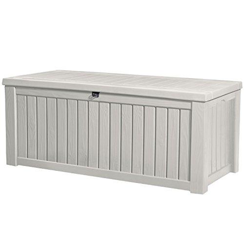 consegna e reso gratuiti Keter Baule Pool Box Bianco In In In Resina 570 Lt Cm 155X72.4X64.4 H  distribuzione globale