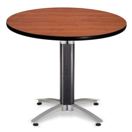 OFM 36'' Multi-Purpose Round Table with Metal Mesh Base, Cherry (MT36RD-CHY) by OFM