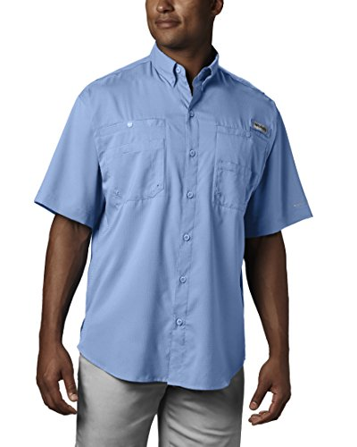 (Columbia Men's Tamiami II Short Sleeve Fishing Shirt, Sail, Medium)
