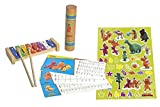 Dragon Coconut Glockenspiel with 2 Beaters Color Note Cards and Stickers to Decorate and Rainmaker