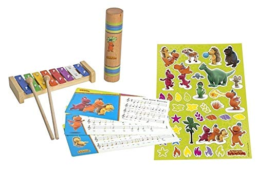Dragon Coconut Glockenspiel with 2 Beaters Color Note Cards and Stickers to Decorate and Rainmaker by Drache Kokosnuss