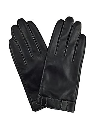 YISEVEN Men's Touchscreen Goatskin Leather Warm Lined Winter Gloves Button Belt