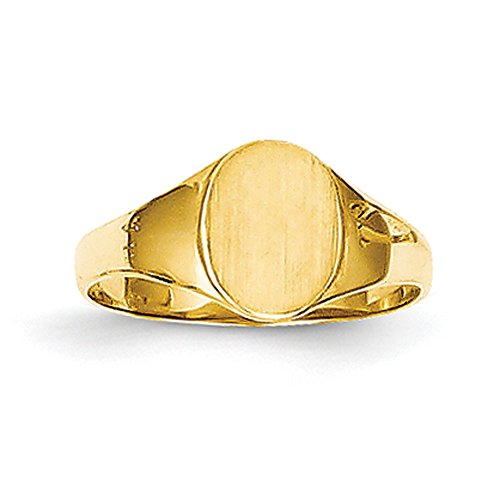 Baby and Children 14K Yellow Gold Oval Signet Ring 14k Yellow Gold Signet Ring