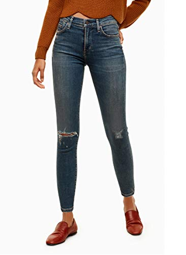 Of High Rise Humanity Citizens (Sculpt Rocket Crop High Rise Skinny Ankle Jeans in Lazuli (Size 30))