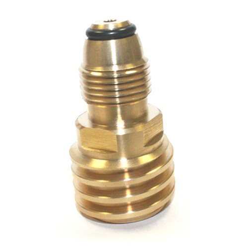 Simply Silver - Converts Propane LP TANK POL Service Valve to QCC (Type 1) Outlet Brass Adapter by Simply Silver (Image #1)