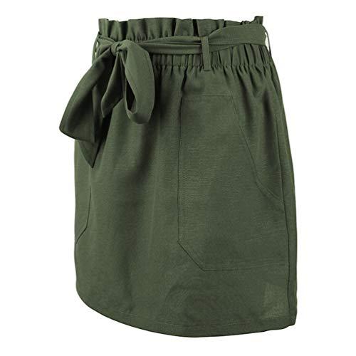 Xinwcang de Mini Moulante Soire Jupe Femmes Crayon Jupes Vert Haute Taille Droite Courte wA1qR