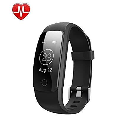 Fitness Tracker,Monejoy Activity Tracker with Wrist Based Heart Rate Monitor,IP67 Waterproof Smart wristband bracelet with Sleep Monitor Pedometer Calorie Call/SMS Remind for iOS/Android