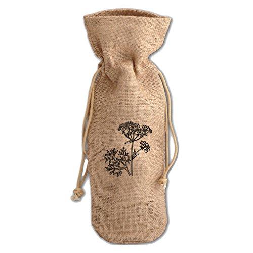 Anise Vintage Look Burlap Wine Drawstring (Anise Drawstring)