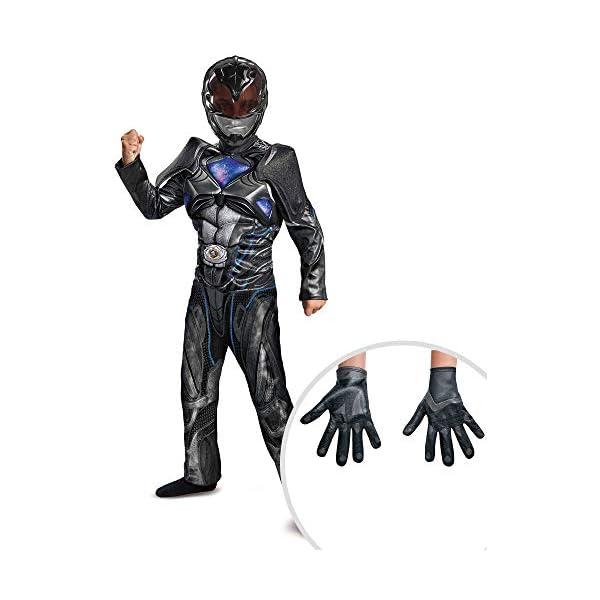 Power Ranger Costume Kit Black Classic Kids L With Gloves