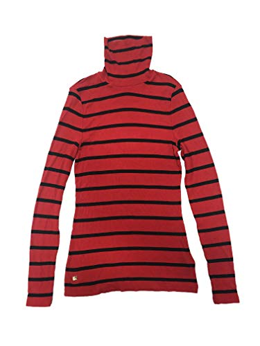 Lauren Ralph Lauren Women's Turtleneck Long Sleeve Top (Red, Petite ()