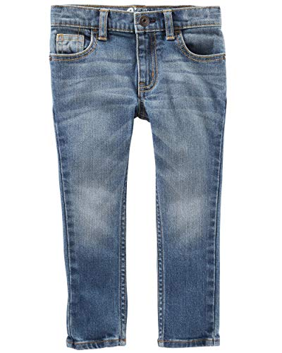 Osh Kosh Boys' Toddler Skinny Jeans, Indigo Bright Wash, 4T