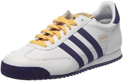 adidas dragon white purple leather trainer