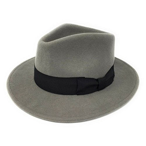 Cotswold Country Hats Handmade 100% Wool Felt Crushable Indiana Fedora Hat - Mens Hat ()