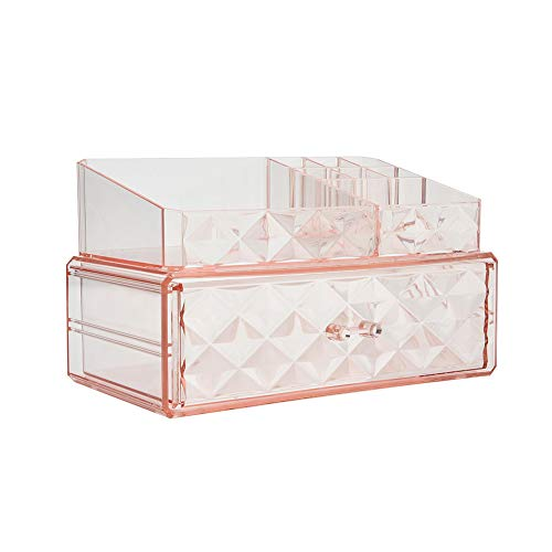 Makeup Organizer Acrylic Cosmetic Storage Drawers and Jewelry Display Box (1 drawer)
