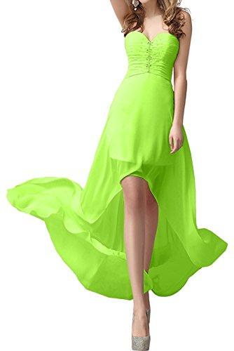 Ballkleid Abendkleider Promkleider Lo Chiffon Elegant Ivydressing Partykleid Herzform Damen Hi Jaegergruen wxxgq18