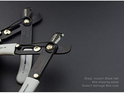 5インチホーム多機能手動ワイヤーストリッパー電気技師ワイヤープライヤーピーラー家庭用ピーラーイージーピーリング-ブラック