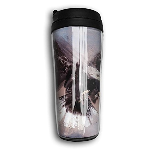 Bald Eagle Steel Mug - Curve Traveler Coffee Mug Double Wall Thermos Coffee Cup For Man Special Design For Bald Eagle