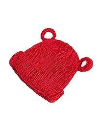 Girls hat Winter Big Children's Knit hat Three-Dimensional Ear Wool hat to Keep Warm