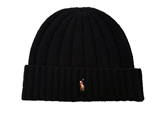isex Lambswool Skullie Cap Black Blue Beanie Hat Wool/Nylon OS ()
