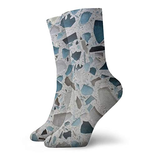 Novelty Cool Crazy Funny Dress Socks - Glass Countertops Marble Socks - Gifts for Men & - Top Unisex Marathon One Pocket
