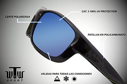 resistencia Gafas funda Lentes Incluyen Polarizadas Deportivas alta 100 Sol Wrong Montura y toallita de espejadas azules Protection UV patillas 3 y Cat The de Way limpiadora Bx1qwFxER