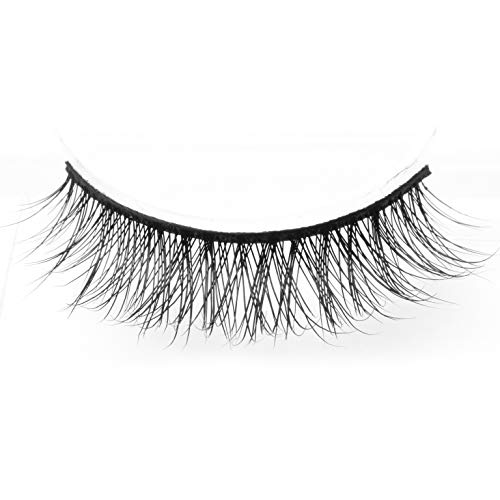 Arimika Handmade Lightweight Natural Short Mink False Eyelashes For Makeup 2 Pairs Pack D18 ()