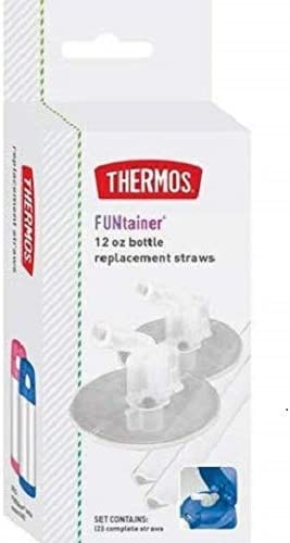 F401Rs6 Clear Thermos Replacement Straws For 12 Ounce Funtainer Bottle