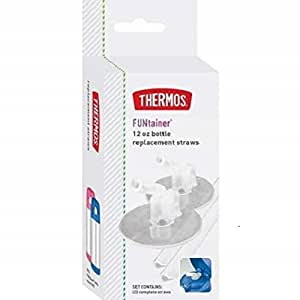 Thermos Straws for 12 Ounce Funtainer Bottle, Clear