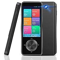 Language Translator Device,108+ Languages Two Way Instant Portable Offline Translators Devices, 3.0 Inch Touch Screen WiFi/Hotspot Voice Translator (Black)
