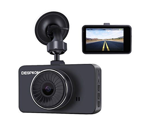 DESPKON Dash Cam 3.0″ Screen Full HD 1296P 170 Wide Angle Dashboard Camera, Car Camera with G-Sensor Parking Monitor WDR Loop Recording Motion Detection and Night Vision