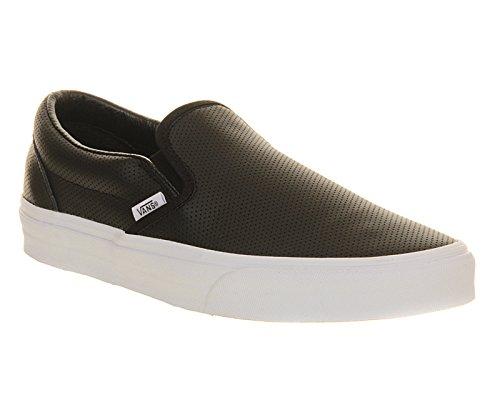 Vans Classic Slip-On, Sneakers, Unisex adulto, nero (Black Perforated Leather), 45 EU