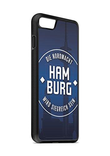 iPhone 7 PLUS Hamburg SILIKON Flipcase Tasche Hülle Case Cover Schutz Handy SCHWARZ
