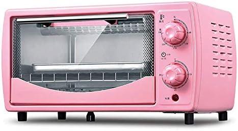 فرن صغير مع شواية كهربائية فرن كهربائي صغير الحجم فرن صغير وشواية مع صفائح ساخنة مزدوجة فرن صغير للخبز المنزلي توقيت دوران 30 دقيقة سعة 12 لتر وردي Amazon Ae