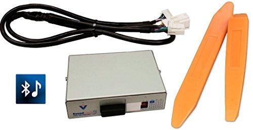 Bluetooth streaming audio kit (Vais SL3B-T) w/ USB charge PLUS dash trim removal tools. For Toyota radios. (Bundle: 2 ()