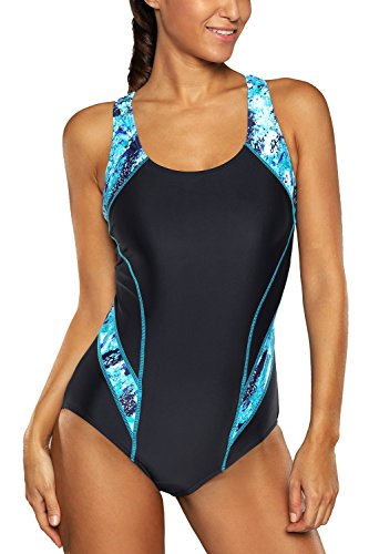 Racing Womens Swimsuit (beautyin Competitive Swimsuit for Women Racing Athletic Swimwear Racerback Swimming M)