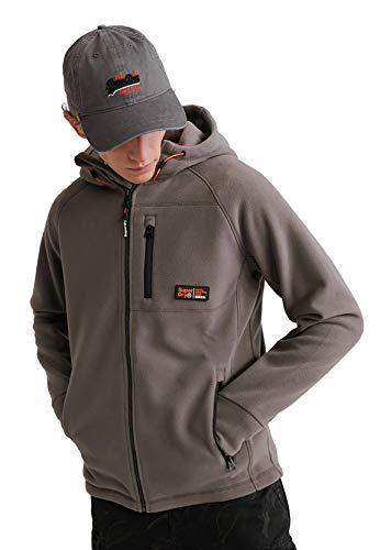Superdry Zipper Herren Polar Fleece Ziphood Exposure Grey