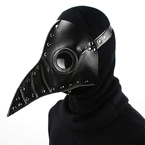Michael Snow Steampunk Cospaly Bird Masks Plague Doctor PU Long Nose Mask Halloween Costume -