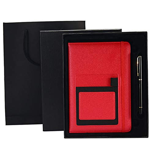 Classic Thick Notebook Multifunctional Office Notebook A5 Hardcover Writing Notebook Multicolor Optional (RED Gift Box)