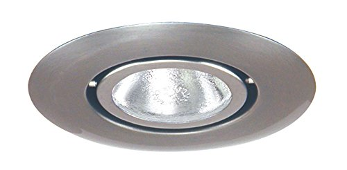 Juno Lighting 440-SC 4-Inch Flush Gimbal Ring Recessed Trim, Satin Chrome