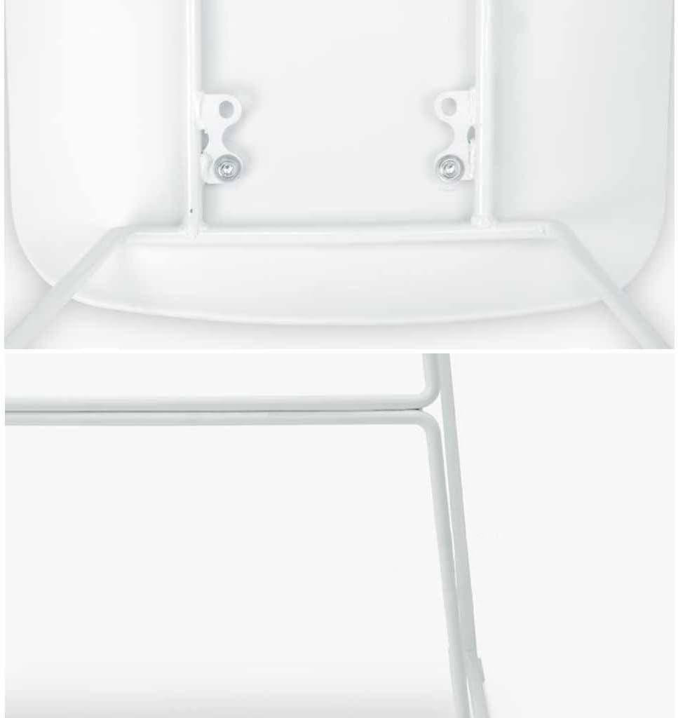 Altezza Seduta 60 cm, 66 cm, 76 cm Sgabelli da Bar Sedia Moderna Metallo Semplice contatore Sedie Alte Cucina da Pub Colazione Sgabelli Reception Schienale poggiapiedi carico Bianco 150 kg