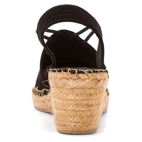 Sandals Toni Black Women's Tremp Pons Suede qUwUR8
