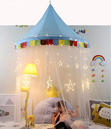 (WODISON Half Moon Shape Mosquito Net Bed Canopies Kids Playing Tent Bedding House Decor )