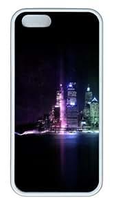 Beautiful city at night 01 Custom iPhone 5s/5 Case Cover ¡§C TPU ¡§C White